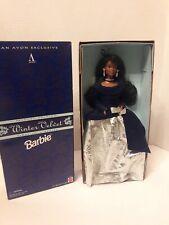 African American Barbie Avon 15587 1995 Mattel Winter Velvet Nrfb