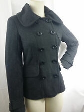 Guess Charcoal Gray Wool Blend Peacoat Jacket sz Small