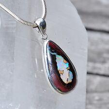 Opal Anhänger, 925er Silber, Edelsteinanhänger (11419), Boulder Opal