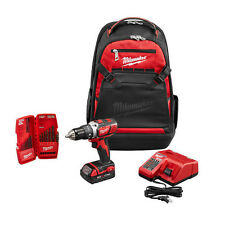 Milwaukee 2606-21BP 18-Volt M18 Lithium-Ion Drill Driver Backpack Starter Kit