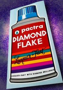 Vintage Style • PACTRA • DIAMOND FLAKE Lacquer • Spray Paint Sticker • Decal