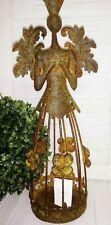Patina Angel Lantern Christmas Rust Metal Shabby Vintage 13 3/8in