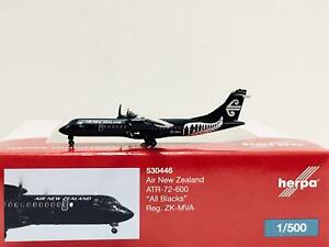"Herpa Wings Air New Zealand ATR-72-600 ""All Blacks"" 1:500 ZK-MVA 530446"