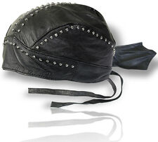 Biker Rocker Piraten Kopftuch Bandana Headwrap Leder Rock chopper Nieten