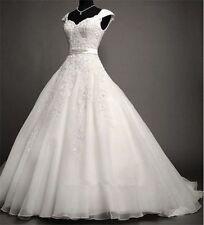 New White/Ivory Lace Bridal Gown Wedding Dress Custom Size:6 8 10 12 14 16 18+