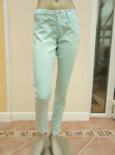 WOMENS LIGHT GREEN CANVAS SKINNY SOUL JEANS - MISS SIXTY - SIZE 30