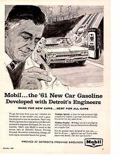 1961 OLDSMOBILE F-85 ~ ORIGINAL MOBIL GASOLINE AD