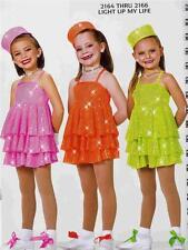 Jazz Dance Costume Tap Ballet Skate Artstone Dress Light up my life 2164