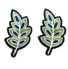 Leaf iron on patch, decorative embroidered patch, sewing supplies, applique