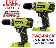 """*TWO* NEW Ryobi P208B 18V 1/2"""" Drill USES P100, P108 & MORE FREE PRIORITY MAIL!"""