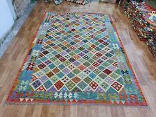 Handmade Afghan Kilim Rug (200x300cm) (6ft 7in x10ft) Wool Traditional Area Rug