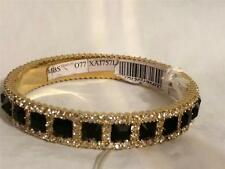 Valentino Rhinestone Jewel Crystal Embellished Metal Bangle Bracelet $545