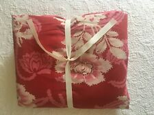 Pottery Barn King Duvet, 100% Organic Cotton, EUC, Red Floral