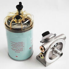 New Fuel Filter Mounting Base Hand Priming Pump 3/8'' NPT 1-14'' Spin On Mount