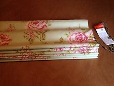 Clarke & Clarke Flora Sage F0079/06 Shabby Chic Roman Blind,All 7 Cols Available