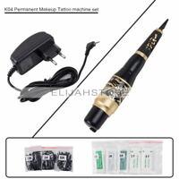 Permanent Make-up Maschine Stift Kits Augenbrauen Rotary Tattoo Gun Nadeln 50pcs