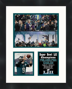 Philadelphia Eagles Super Bowl 52 Nick Foles Framed Photo 11 X 14 Memorabilia