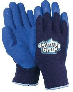 Red Steer Blue Chilly Grip Cold Storage Work Hunting Winter Gloves Rubber Palm