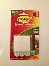 COMMAND 17201 Medium Picture/Poster/Canvas Hanging Strips Pk6 Holds up to 4kg