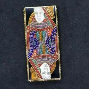 Money Clip Cloisonné Enamel unusual unmarked Vintage