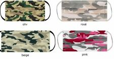 Mund Nasenschutz, Baumwolle, Stoffmaske, Gummiband waschbar Camouflage, military