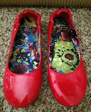 WOMEN'S SO SHINY CORAL FLAT BALLET SHOES SIZE 7.5 M STRETCH ANKLE SLIP RESISTANT