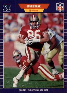 1989 Pro Set Football Card #375 John Frank