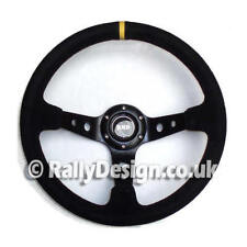 "Steering Wheel 350mm with 3"" (75mm) dished Black Suede Race Rally SVi-4125BSU"