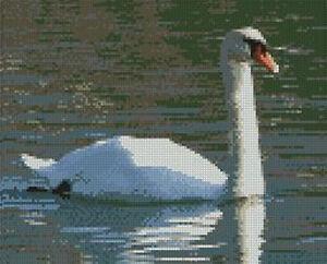"Swan On Lake Counted Cross Stitch Kit 9"" x 7.25"" 23cm x 18.5cm B2225"