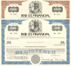 U.S. FINANCIAL real estate fraud California stock certificates