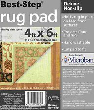 Best Step Deluxe Non-Slip Rug Pad 4 ft x 6 ft w/ Microban Protection