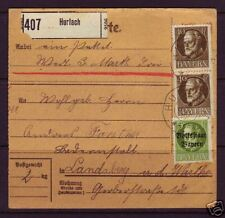 Bavaria Sc 105, 137 on 1919 Packet Card to Landsberg, VF