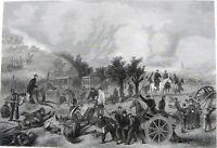 American Civil War BATTLE OF GETTYSBURG Turning Point ~ 1867 Art Print Engraving
