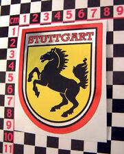 Grande AÑOS 70 Estilo Stuttgart CROMO Vacaciones Pegatina Para Porsche 911 912