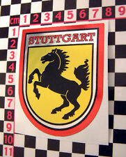 Large 70's style Stuttgart Chrome Holiday Sticker for Porsche 911 912 914 356