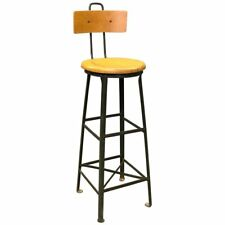 Tall Industrial Train Station Switchboard Operator Stool