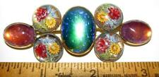 LG ANTIQUE VICTORIAN JELLY OPAL DRAGONS BREATH & REVERSE PAINTED INTAGLIO PIN