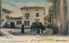 LUSERNA S. GIOVANNI - Piazzetta e via Ospedale FARMACIA 1898