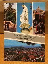 Israel Greetings From Nazareth 1995 Postcard