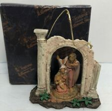 Fontanini 4 Inch Holy Family Arch Christmas Hanging Ornament #56299 w/ Box