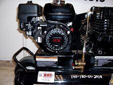 Mi-T-M 8 Gallon Air Compressor Single Stage Portable Honda Gas Power Wheelbarrow