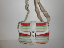 Coach Hampton Striped Crossbody