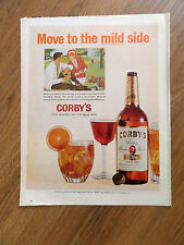 1965 Corby's Whiskey Ad Couple Golfing Theme