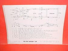 1962 1963 1964 STUDEBAKER LARK DAYTONA REGAL CUSTOM WAGON FRAME DIMENSION CHART