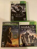Xbox 360 Halo Game Lot - Halo Combat Evolved Anniversary, Halo 3, Halo Reach