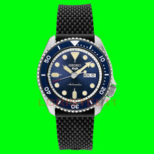 NEW Seiko 5 Mens Blue Dial Dive Watch SRPD93 Automatic 100m Silicone Strap