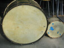 LEEDY DRUMS set old     bass snare tom cymbals hardware pedal