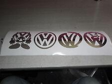 4 logo cromato VW Transporter T5 Bus Bug GOLF adesivi CROMATO SPECCHIO 130MM ad alta