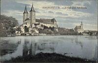 ROCHLITZ Sachsen AK um 1910 Schloss & Petri-Kirche alte color Ansichtskarte
