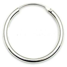 x 22mm - 1 Single Earring 925 Sterling Silver Hinged Ear Hoop/Sleeper 2mm